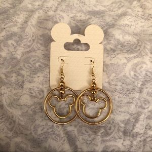 NWT Gold Mickey Mouse Earrings